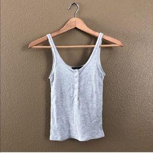 Brandy Melville Grey Knit Henley